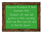 Classroom Rules and Procedure Scavenger Hunt