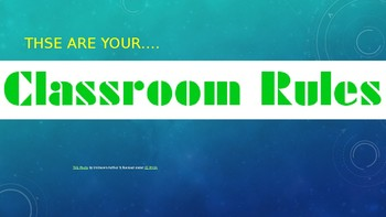 Classroom Rules and Procedures (EDITABLE)
