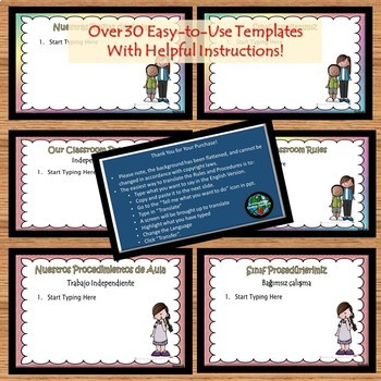 Classroom Rules and Procedures- Editable!