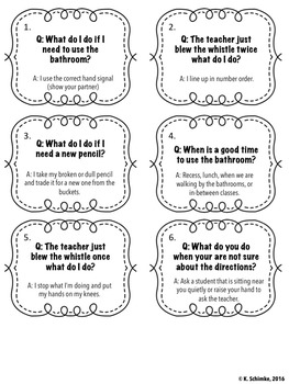 Classroom Rules and Procedures Game: Back to School