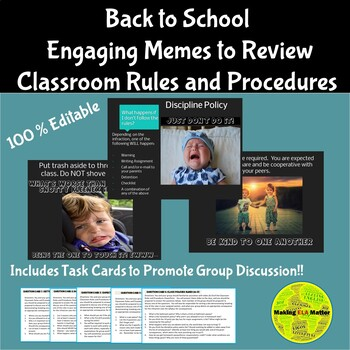 Classroom Rules and Procedures Meme PowerPoint