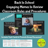 Classroom Rules and Procedures Meme PowerPoint & Task Cards