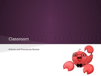 Classroom Rules and Procedures PPT (Review)