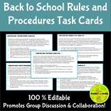 Classroom Rules and Procedures Task Cards