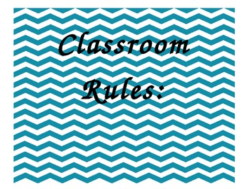 Classroom Rules and Procedures in Chevron Print