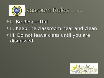Classroom Rules and procedures powerpoint with memes