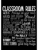 Classroom Rules - editable, black background, you personalize