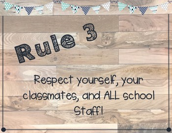 Classroom Rules Posters for ALL Grade Levels