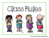 Classroom Rules for Class Posters