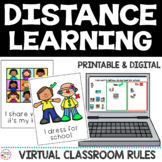 Classroom Rules for Distance Learning | Printable and Digital