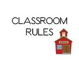 Classroom Rules for Kindergarten