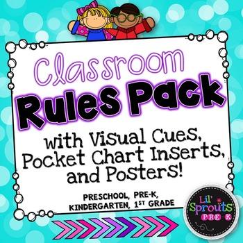 Classroom Rules Pack - Preschool, PreK, Kindergarten - Back to School Printables