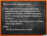 Classroom Rules for Primary School Age Children