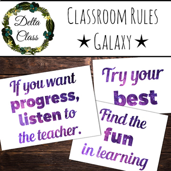 Classroom Rules for Teens and Adults - Galaxy Design