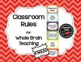 Whole Brain Teaching Classroom Rules - FREE! - Cute Chevrons