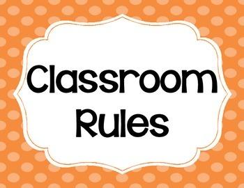 Whole Brain Teaching Classroom Rules - FREE! - Cute Polka Dots