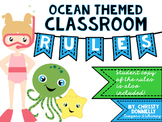 Classroom Rules for an Ocean Themed Classroom