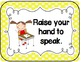 Classroom Rules for the Elementary Classroom (Polka Dot)