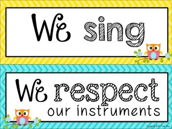 Classroom Rules for the Music Classroom