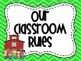Classroom Rules in Green Chevron