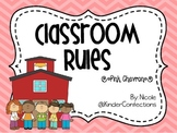 Classroom Rules in Pink Chevron