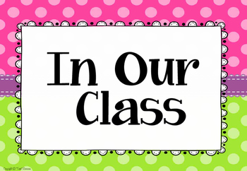 Classroom Rules in Polka Dots (A4 paper size!)