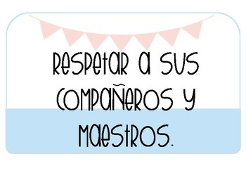 Classroom Rules in SPANISH: Positive Learning Environment {Banners & Pastels}
