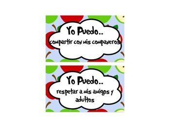 Classroom Rules in Spanish