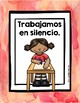 Classroom Rules in Spanish (Posters and Cards) Reglas del salon Red Rojo