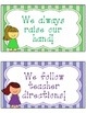 Classroom Rules Cards in Stripe & Polka Dots {editable}