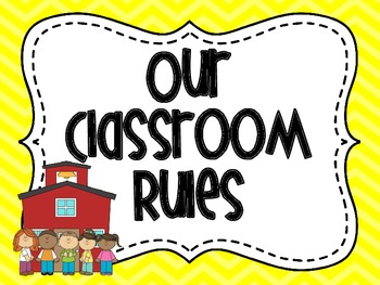Classroom Rules in Yellow Chevron