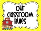 Classroom Rules in Yellow Chevron