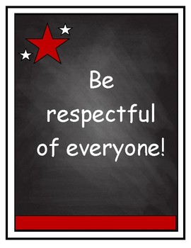Classroom Rules on Chalkboard Background