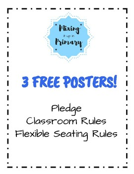 Classroom Rules with Chevron Background