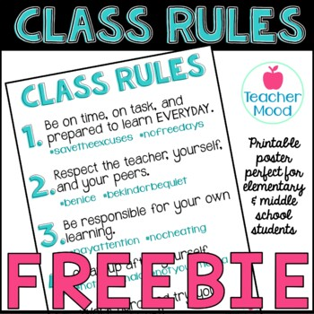 Classroom Rules with # Hashtags [ FREE ] Hashtag { Back to School }
