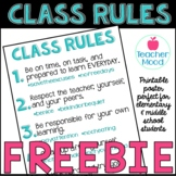 Classroom Rules with # Hashtags [ FREE ] Hashtag { Back to