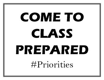 Classroom Rules with Hashtags Mini-posters