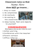 Classroom Rules with Memes Poster