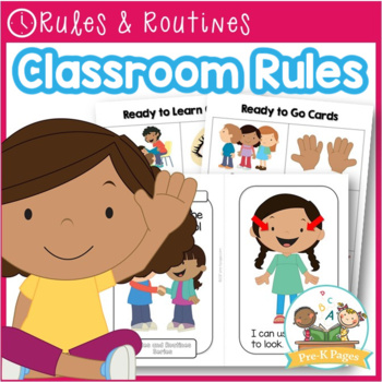 Classroom Rules with Pictures for Pre-K and Kindergarten