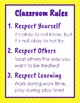 Classroom Rules with Polka Dot Background