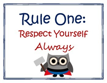 Classroom Rules with Super Hero Owls