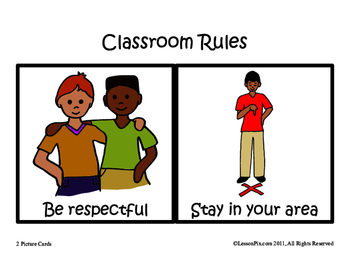 Classroom Rules with Visuals