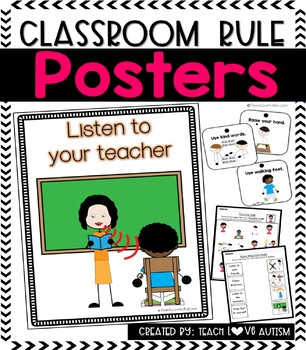Classroom Rules with Visuals PACK