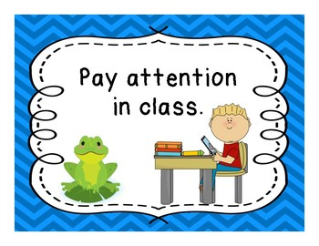 Classroom Rules with frogs