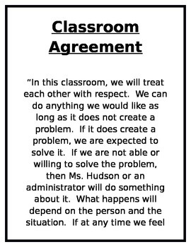 Classroom Rules/Agreement