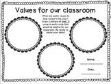 Classroom Rules/Values
