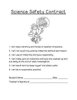 Classroom Safety Contract Template