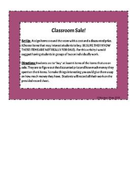 Classroom Sale!
