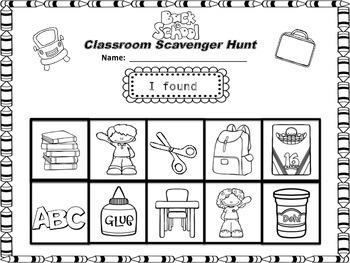 Classroom Scavenger Hunt!