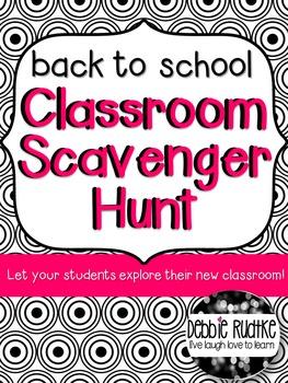 Back to School Classroom Scavenger Hunt